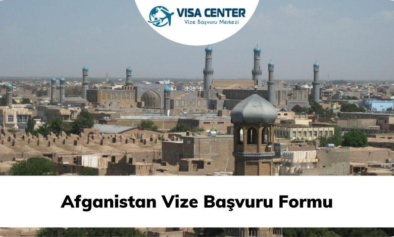 Afganistan Vize Başvuru Formu