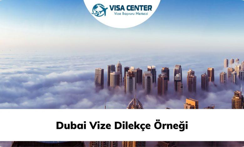 Dubai Vize Dilekçe Örneği