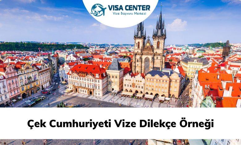 Çek Cumhuriyeti Vize Dilekçe Örneği