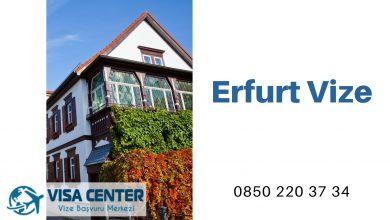 Almanya Erfurt Vize Başvurusu