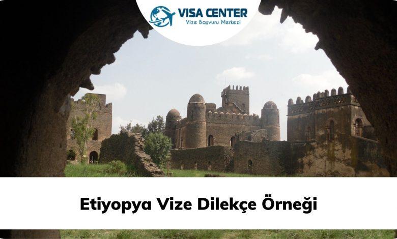 Etiyopya Vize Dilekçe Örneği