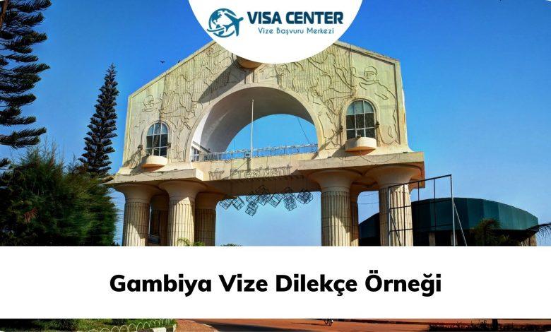 Gambiya Vize Dilekçe Örneği