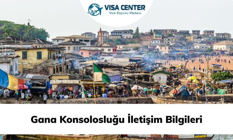 Gana Konsolosluğu İletişim Bilgileri