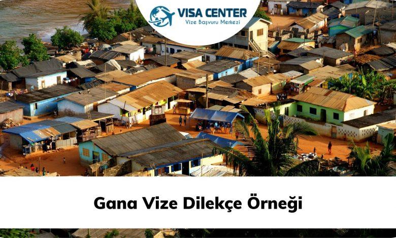Gana Vize Dilekçe Örneği