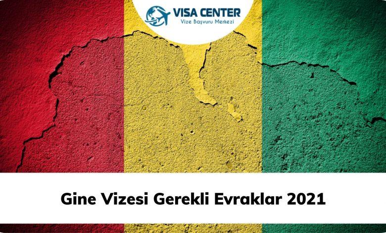 Gine Vizesi Gerekli Evraklar 2021