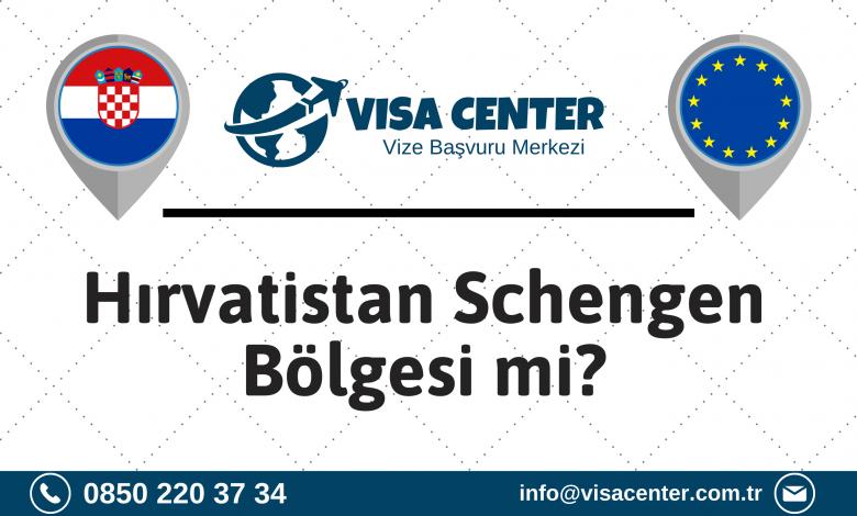 Hırvatistan Schengen Bölgesi Mi