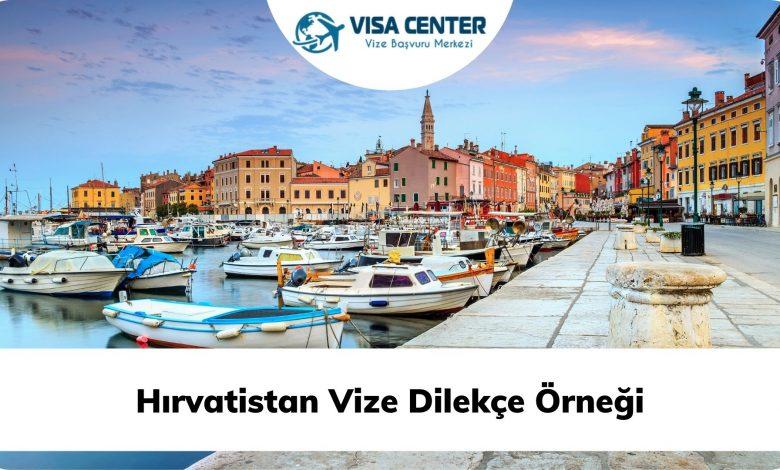 Hırvatistan Vize Dilekçe Örneği