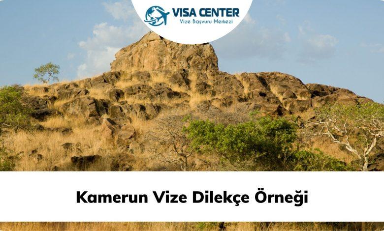 Kamerun Vize Dilekçe Örneği