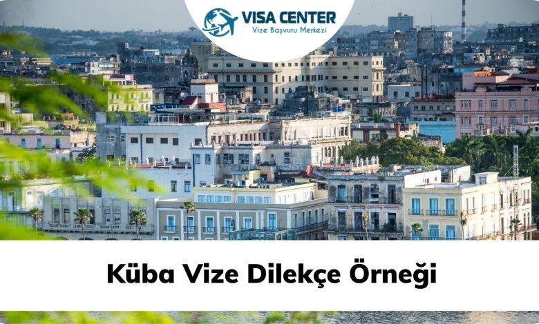 Küba Vize Dilekçe Örneği