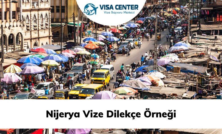 Nijerya Vize Dilekçe Örneği