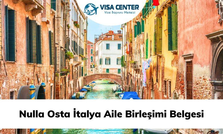 Nulla Osta İtalya Aile Birleşimi Belgesi