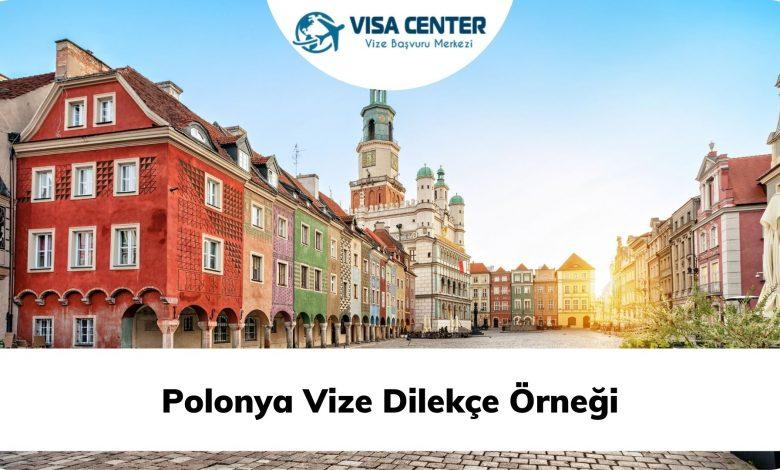 Polonya Vize Dilekçe Örneği