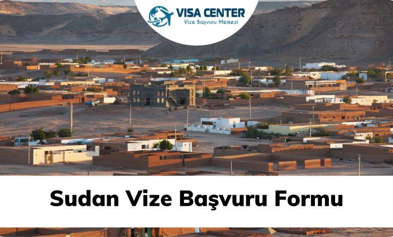 Sudan Vize Başvuru Formu