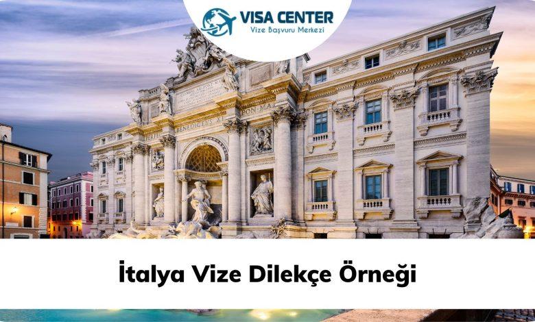 İtalya Vize Dilekçe Örneği
