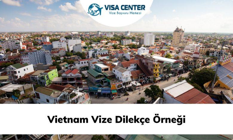 Vietnam Vize Dilekçe Örneği