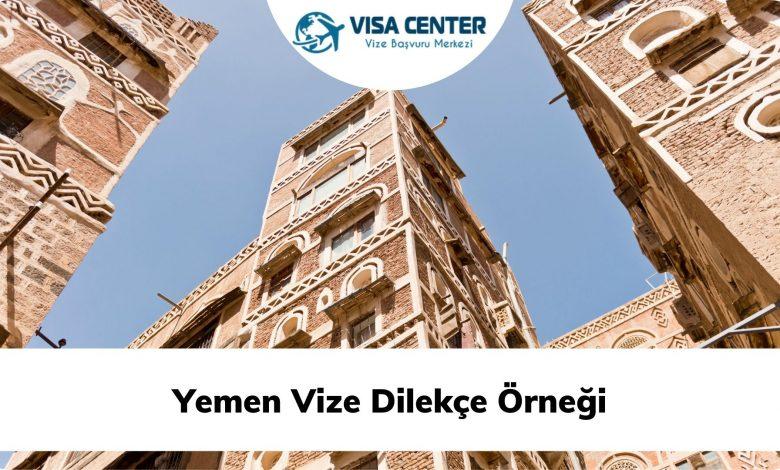 Yemen Vize Dilekçe Örneği