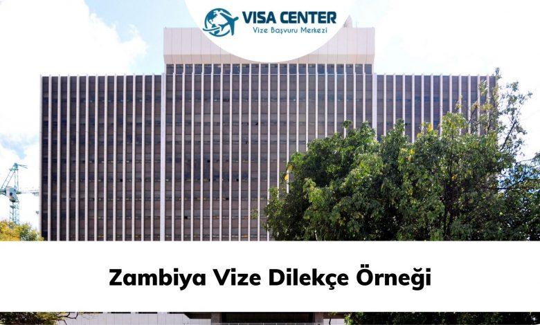 Zambiya Vize Dilekçe Örneği
